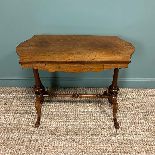 Victorian Rosewood Antique Writing Table (1 of 7)