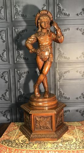 Italian Carved Hardwood Figure of a Boy (1 of 23)