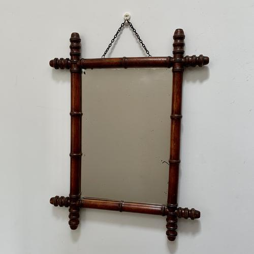 Small Faux Bamboo Mirror Portrait Style (1 of 5)