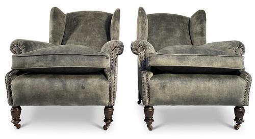 Pair of Wingback Armchairs (1 of 6)