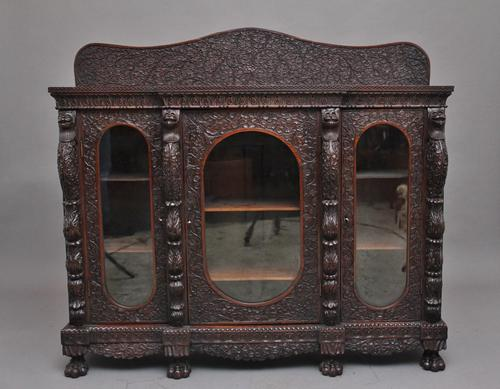 Superb quality 19th Century Burmese breakfront cabinet (1 of 11)