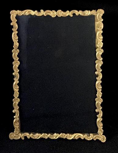 Gilt Brass Edwardian Easel Photo Frame (1 of 4)