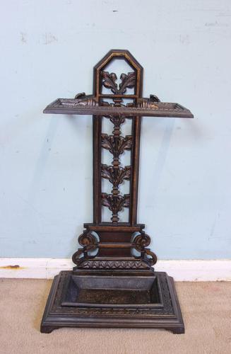 Antique Cast Iron Umbrella Stick Stand (1 of 11)