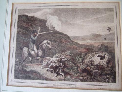 "Late 18th Century Etching ""Grouse Shooting"" by Samuel Howitt (1 of 6)"