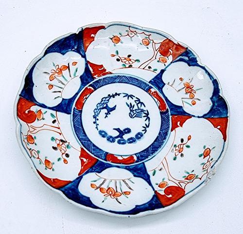 Chinese Asian Imari Plate 19th Century 1850-1899 Imari Rust Red Cobalt Blue Porcelain (1 of 6)