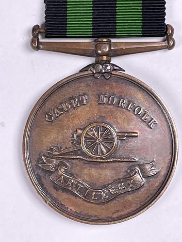 Cadet Norfolk Artillery Regiment Bronze Medal (1 of 3)