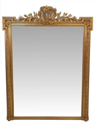 Good Quality 19th Century Gilt Overmantle Mirror (1 of 3)
