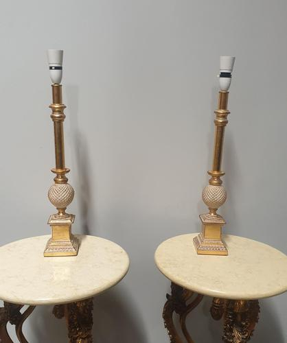 Pair of Gilt Table Lamps (1 of 4)