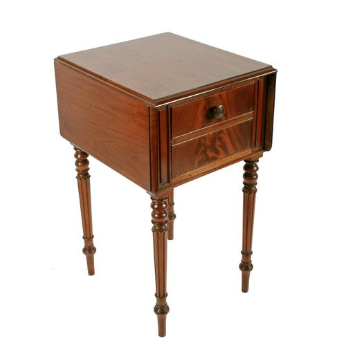 George IV Mahogany Bedside Cabinet (1 of 8)