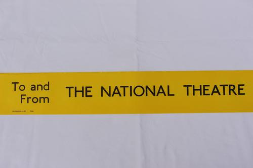 London Transport Slipboard Poster for The National Theatre (1 of 1)