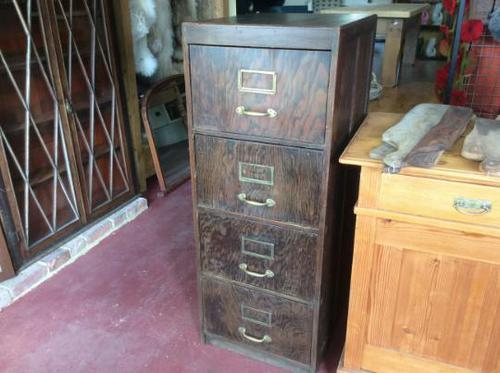 Antique Wooden Filing Cabinet (1 of 9)