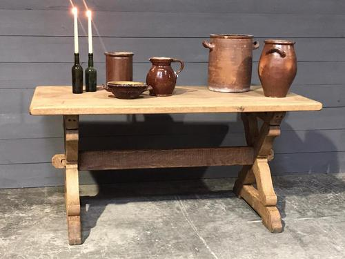 Small French Oak Farmhouse Kitchen Dining Table (1 of 11)