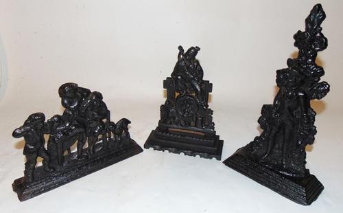 Three Victorian Cast Iron Door Stops (1 of 6)