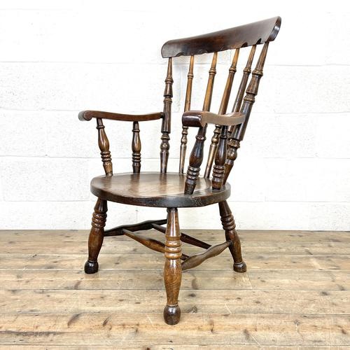 Antique 19th Century Penny Armchair (1 of 9)