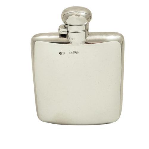 Antique Edwardian Sterling Silver Hip Flask 1906 (1 of 9)