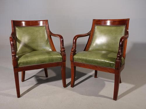 Pair of Charles X Period Mahogany Framed Chairs (1 of 5)