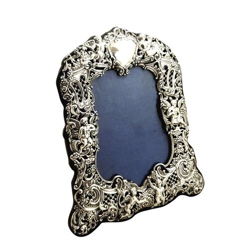 Antique Victorian Sterling Silver 'Cherubs' Photo Frame 1894 (1 of 10)