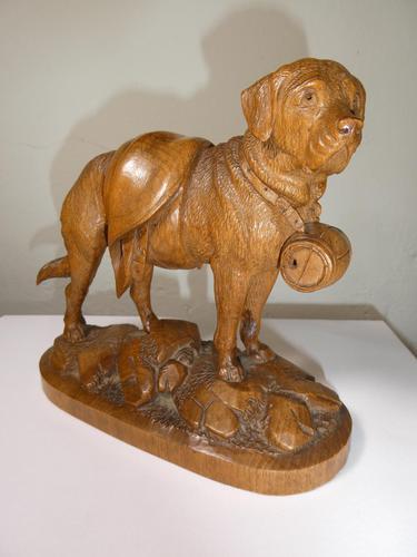 Black Forest St. Bernard Dog c.1910 (1 of 6)