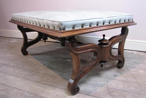 Large Antique Regency Footstool (1 of 5)