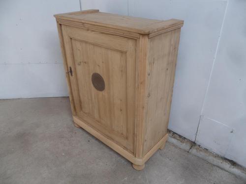 Georgian 1 Door Antique Pine Kitchen / Food / Hall Cupboard to wax / paint (1 of 9)