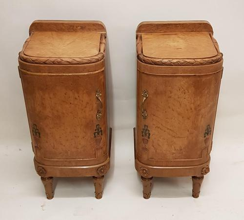 Pair of Art Deco Bedside Cabinets (1 of 6)