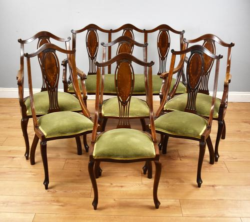 Victorian Mahogany & Inlaid Lounge Suite (1 of 23)