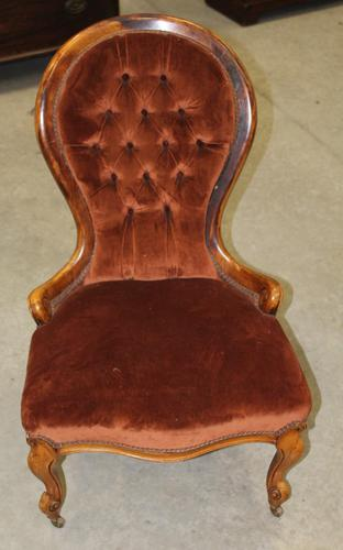 1910s Mahogany Mummy Armchair in Rust Upholstery (1 of 3)