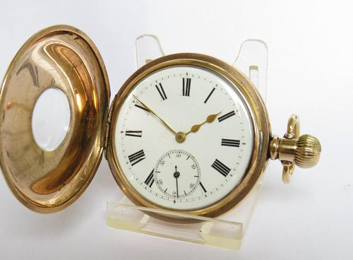 Antique Vesta Lever Half Hunter Pocket Watch (1 of 5)
