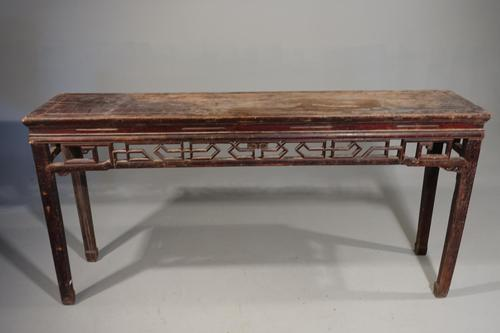 Late 19th Century Elm Artists or Alter Table (1 of 6)