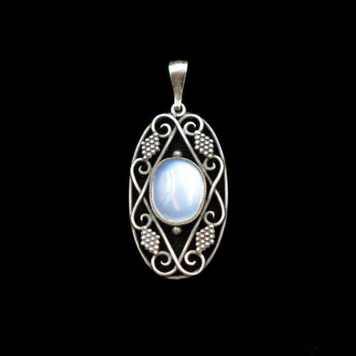 Vintage Moonstone Sterling Silver Drop Pendant Arts & Crafts (1 of 10)