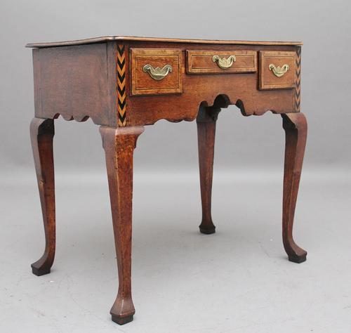 Decorative 18th Century Oak Lowboy (1 of 9)