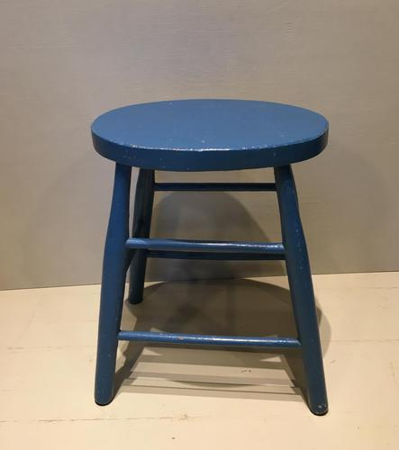 Chair Height Painted Stool (1 of 4)