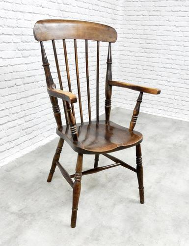 Antique Stick Back Armchair (1 of 6)