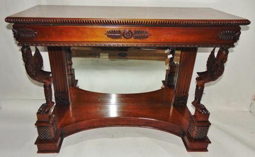 Empire Style Carved Mahogany Console Table (1 of 11)