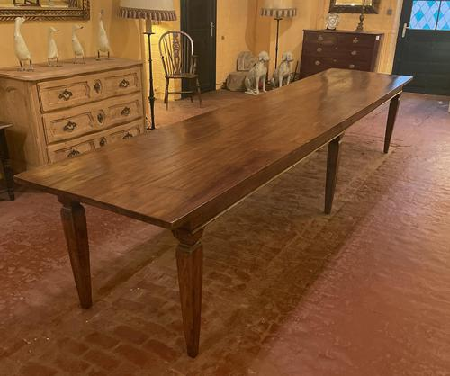 Large Monastery Table From 4m Long-19th Century-netherlands (1 of 9)
