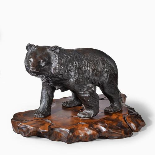 Large Meiji Period Bronze Bear by Genryusai Seiya (1 of 7)