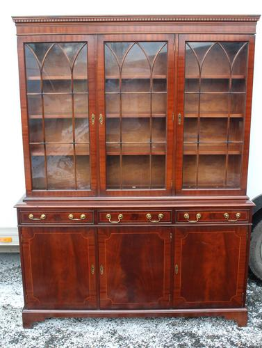 1960s 3 Door Mahogany Bookcase with Glazed Top (1 of 5)