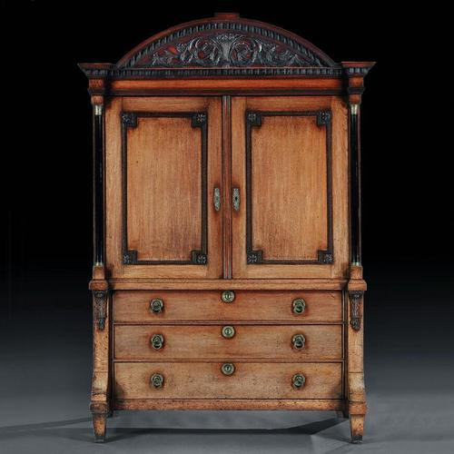 Late 18th Century Neoclassical Dutch Oak Linen Press of Wonderful Colour (1 of 6)