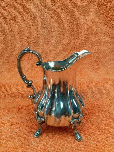 Antique Victorian Silver Plate Cream Jug c.1880 (1 of 10)