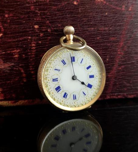 Antique 14k Gold Pocket Watch, Fob Watch (1 of 14)