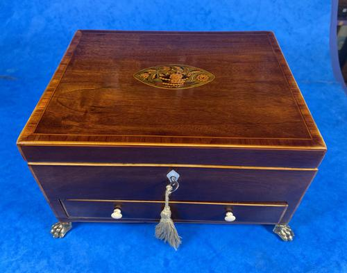 Georgian Mahogany Jewellery Box with Front Drawer (1 of 17)
