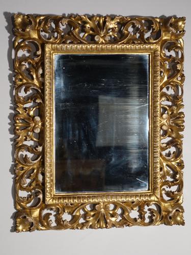 Small 18th Century Florentine Giltwood Mirror (1 of 3)