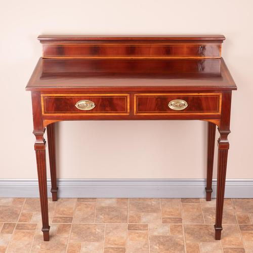 Edwardian Inlaid Mahogany 2 Drawer Side Table (1 of 15)