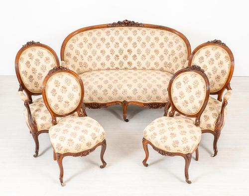 Victorian Rosewood Parlour Suite (1 of 23)