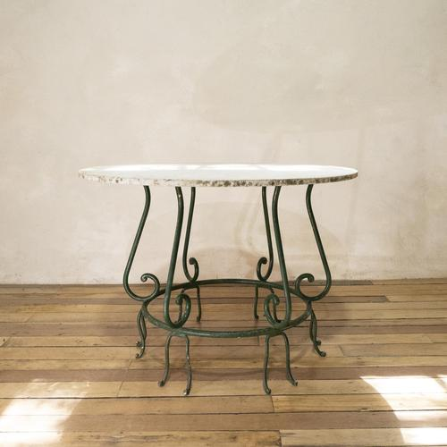 """A 20th Century French Iron and Marble """"orangerie"""" Centre - Garden Table (1 of 13)"""