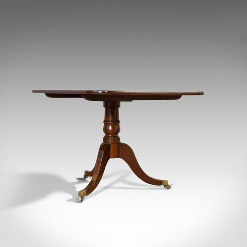 Antique Breakfast Table, English, Mahogany, Tilt Top, Dining, Regency, C.1820 (1 of 10)