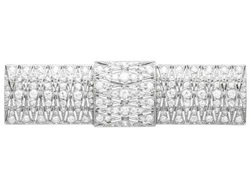 3.05ct Diamond & Platinum Brooch - Art Deco - Antique c.1915 (1 of 9)