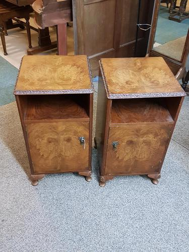 Pair of Walnut Bedside Tables (1 of 5)