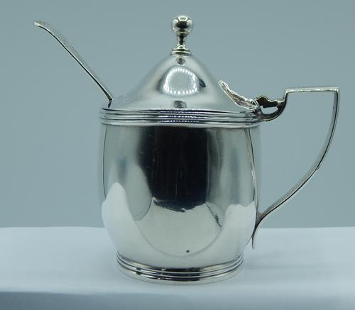 George III Mustard Pot with Spoon (1 of 10)