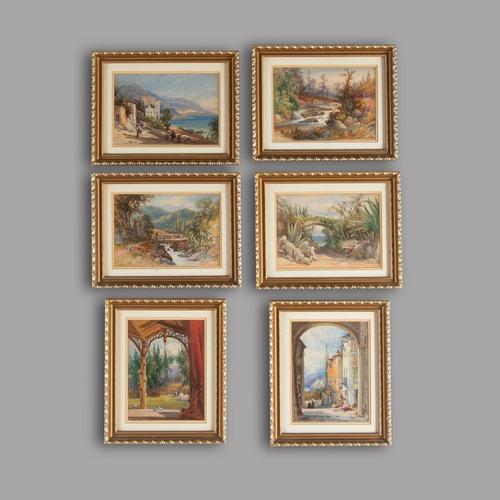 Six 19th Century Watercolours of Italy France and Scotland (1 of 3)